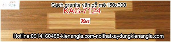 Gạch giả gỗ granite mờ 150x600 KAG-7124