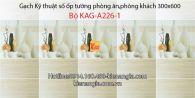Gạch KTS ốp tường phòng ăn Bộ-KAG-A226-1