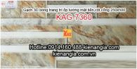 Gạch 3D ốp cột mặt tiền 250x500 KAG-7360