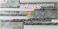 Gạch 3D ốp cột mặt tiền 250x500 KAG-7361