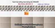 Gạch men bóng ốp tường phòng tắm 30x60 Bộ KAG-B330-3