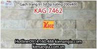 Gạch 3D bóng trang trí ốp tường 200x400 KAG-7462
