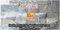 Gạch 3D bóng trang trí ốp tường 200x400 KAG-7463