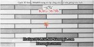 Gạch 3D bóng trang trí ốp vách tường rào 30x60 KAG-36706