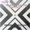 Gạch bông trang trí ốp lát quán trà sữa 20x20 KAG-P201F