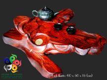Khay trà gỗ trắc đỏ