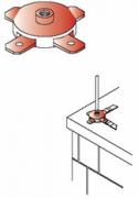 Đế kim chống sét dùng cho thanh đồng /thanh nhôm