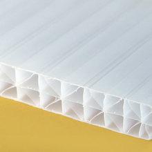 tấm lợp polycarbonate màu trắng sữa rỗng ruột