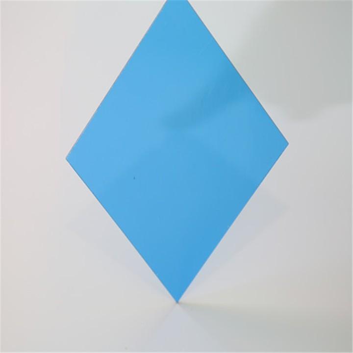 Tấm lợp lấy sáng thông minh Polycarbonate màu xanh dương đặc ruột
