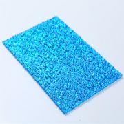 Tấm lợp thông minh polycarbonate xanh lam mặt sần