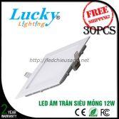 Đèn LED downlight âm trần 12w vuông siêu mỏng