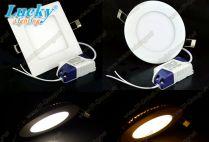 Led downlight âm trần 21w vuông siêu mỏng