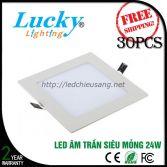 Đèn LED downlight âm trần 24w vuông siêu mỏng