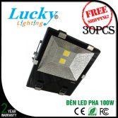 Đèn LED Pha 100W vỏ nhôm