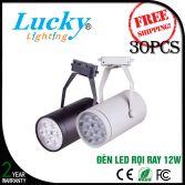 Đèn LED rọi gắn ray 12W vỏ đen