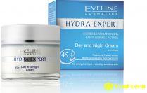 Kem dưỡng da ngày đêm Eveline Hydra Expert 45+, dưỡng ẩm, chống lão hóa, giúp da căng mịn
