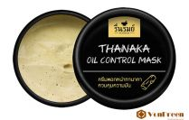 Mặt nạ kiềm dầu Thanaka, kiểm soát dầu, kháng viêm, bảo vệ và dưỡng da tươi sáng, mịn màng