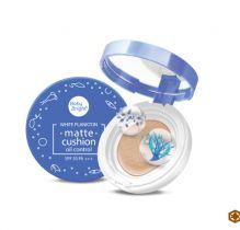 Phấn nước Baby Bright White Plankton Matte Cushion, dạng lì, kiềm dầu, che khuyết điểm tốt