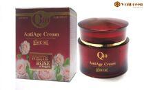 Kem Dưỡng Da Mặt Q10, AntiAge Cream White Rose mờ nếp nhăn, mờ thâm, mịn da, chính hãng