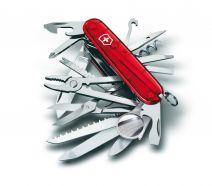 Dụng cụ đa năng Victorinox SwissChamp đỏ trong suốt, 1.6795.T