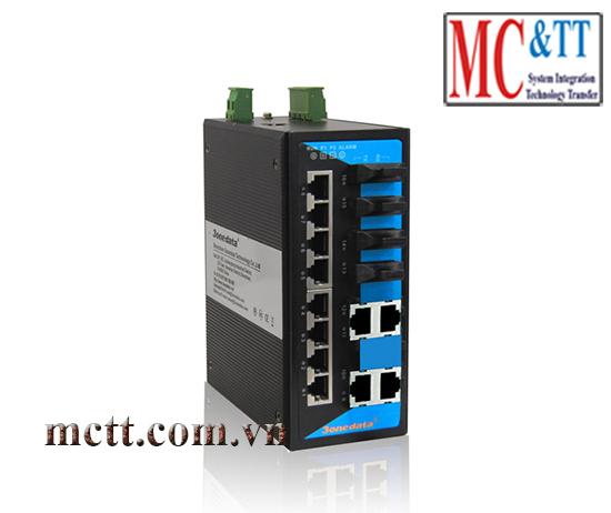 Switch công nghiệp quản lý 12 cổng Ethernet + 4 cổng quang 3onedata IES6116-4F