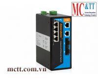 Switch công nghiệp quản lý 4 cổng PoE Ethernet + 2 cổng quang 3Onedata IPS618-2F-4POE