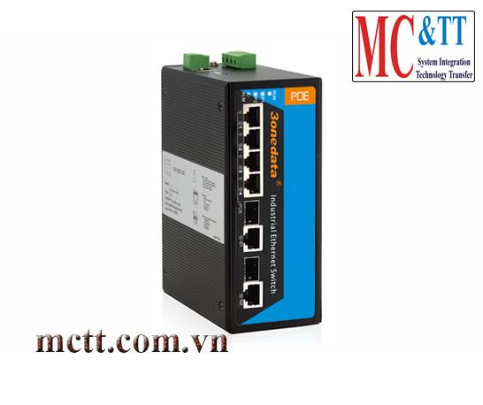 Switch công nghiệp quản lý 4 cổng PoE Ethernet + 2 cổng Combo SFP 3Onedata IPS716-2GC-4POE