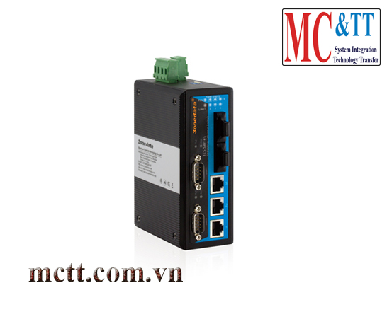 Switch công nghiệp 3 cổng Ethernet + 2 cổng quang + 2 cổng RS232 3Onedata IES615-2F-2D(RS-232)