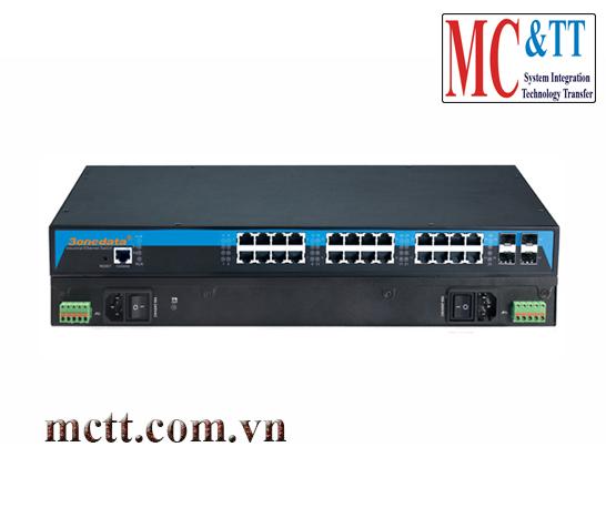 Switch công nghiệp Layer 3 24 cổng Gigabit Ethernet + 10 cổng 10Gb SFP 3Onedata ICS5028G-4TS