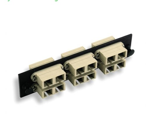 AMP Fiber Optic Snap-In Adapter Plate, Duplex SC, 12-Fiber, SM
