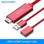 Cáp chuyển đổi Lightning to HDMI dài 2m Vention CEJHH