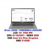Máy tính xách tay - Laptop LG Gram 2020 14ZD90N-V.AX55A5 - Dark Silver