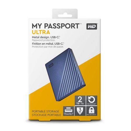 """Ổ cứng gắn ngoài WD My PassPort Ultra 2.5"""" 2TB USB Type C"""