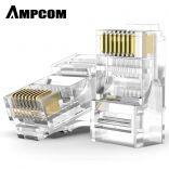 CAT5E RJ45 Connector - Đầu bấm mạng AMPCOM cao cấp UTP CAT5E RJ45 Connector (30U) - AMC5E30100
