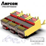 Đầu bấm mạng AMPCOM cao cấp CAT7 STP RJ45 Connector (Gold-plated Copper Shell with Clamp) Red