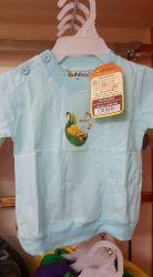Áo màu dài tay bo cài nút vai Babiboo BB36
