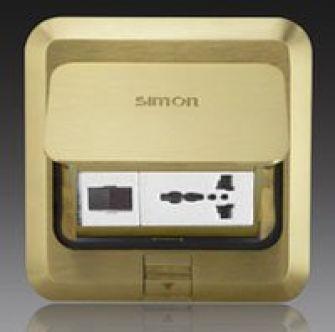 Ổ cắm âm sàn Simon 1 ổ điện thoại, 1 ổ 3 chấu