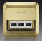 Ổ cắm âm sàn Simon 2 ổ dữ liệu,1 ổ điện thoại