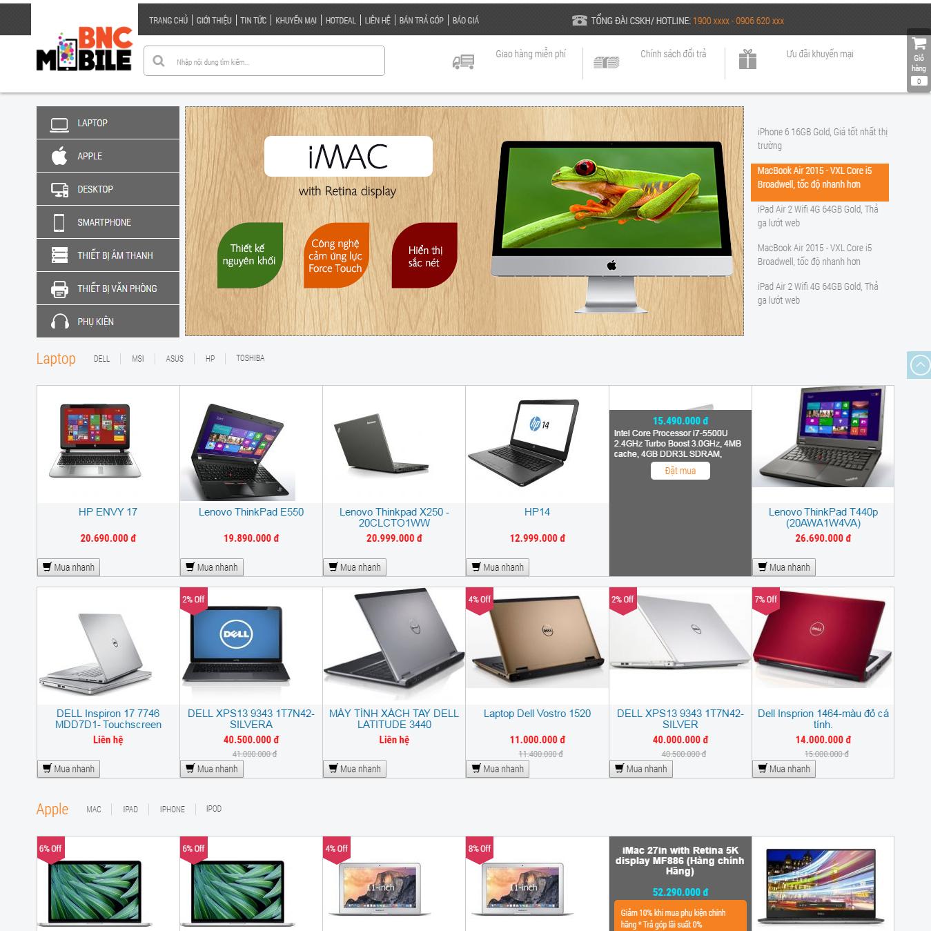 WebBNC - Giao diện v2bnc00149