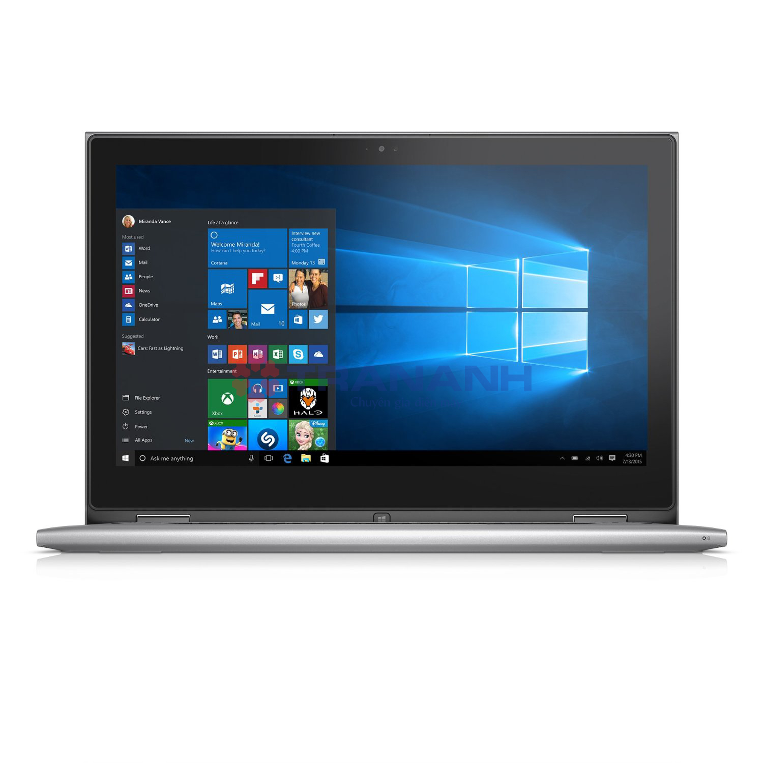Laptop Dell Inspiron 7359 (C3I5019W) (i5-62000U, 4GB, 500GB, Intel HD 520, 13.3, Touch Screen)