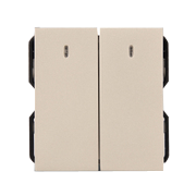 Hạt công tắc LED đôi 1 chiều ArtDNA A77-H21