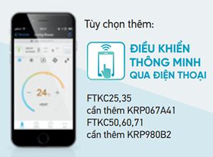 Điều khiển từ xa bằng điện thoại cho FTKC25TVMV