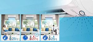Mắt thần thông minh trên dàn lạnh FTKC25TVMV tiết kiệm năng lượng