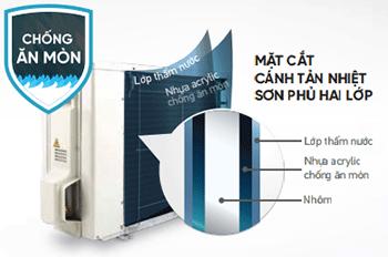 Cánh tản nhiệt của máy FTC35NV1V chống ăn mòn