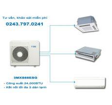 Dàn nóng điều hòa Multi Daikin 2 chiều 3MXS68EVMA 23,200BTU
