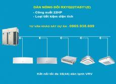 Dàn nóng 2 chiều điều hòa trung tâm Daikin VRV IV RXYQ22TASY1(E) 22HP