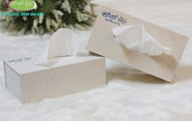 Hộp khăn giấy lụa Soft Life dùng trong Công ty