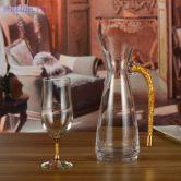 Bình chắt rượu vang đúc vàng lá 24K-B02