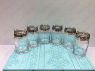 Bộ 6 cốc pha lê khảm bạc CKB01