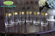 Bộ 6 cốc khảm vàng 24K CKV02